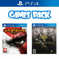 Playstation 4 Game Bundle God of War 3 Remastered & The Order 1886 PS4 Games