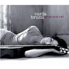 """CARLA BRUNI """"QUELQU'UN M'A DIT"""" CD 12 TRACKS NEW+"""