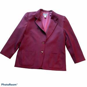 Pendleton Wool Blazer Jacket Petite Size 14 Purple Magenta career NWOT USA