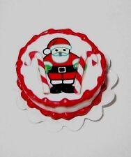Dollhouse Miniature Holiday Santa Cake on Doily