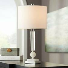 Modern Table Lamp Stacked Crystal Faux Marble for Living...
