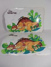 The Land Before Time Movie Table 2 Placemats 1988 Vintage Dinosaur Littlefoot