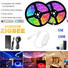 5M 10M ZIGBEE ZLL Smart Controller 12V 24V 5050 RGBW/RGBWW Flexible LED Streifen