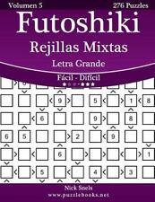 Futoshiki: Futoshiki Rejillas Mixtas Impresiones con Letra Grande - de Fácil...