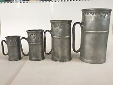 antique  lead italian pewter cantina  measuring cups