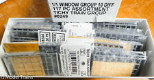 Tichy Train Group HO Scale #8249 (1/1 Window Group 10 Diff. 117 PC Assortment)