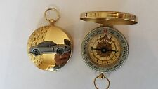 TVR Cerbera ref277 pewter effect car emblem on a Golden Compass
