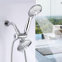 5-Setting Chrome Rainfall Shower Faucet Head & Handheld Combo High Pressure