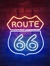 """ROUTE 66"" Bar Neon Sign Handcraft Vintage Custom Gift Bedroom Display Decor"