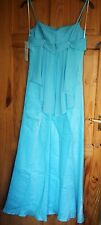 BNWT Marvie turquoise strappy evening dress size 12