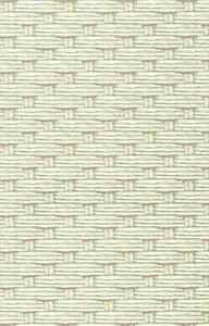 Wallpaper Green Cream Basketweave Modern Ronald Redding RN6941 Double Rolls