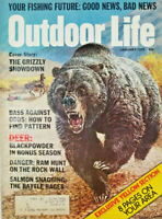 Outdoor Life January 1975 - Grizzly Bear Showdown - Vtg Magazine - GD