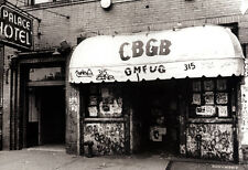 CBGB Poster, Legendary Punk Music Venue, New York City