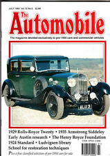 July The Automobile Cars, Pre-1960 Transportation Magazines