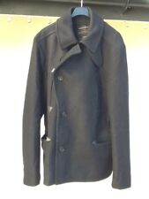 ALL SAINTS MENS WOOL 'CALTON' PEA COAT LARGE