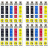 20 Cartucce Di Inchiostro per Epson Stylus D120 DX5050 DX8400 BX310FN SX105