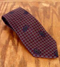 "euc Balenciaga Geometric Muted Tone Paisley Men's 100% Silk Tie 56"" 3"""