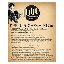 4X5 SHEET FILM - FPP BW X-RAY FILM (25 sheet box)