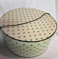 "Vintage Floral Leaf Hat Box 14 ""X 7"" Tall"