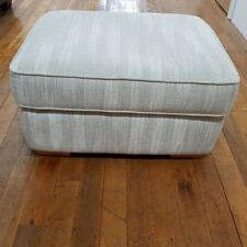 G Plan Fabric Storage Footstool, Grey/silver