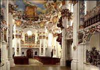Kirchen Motiv-Postkarte DIE WIES Wallfahrtskirche Innenansicht AK ungelaufen