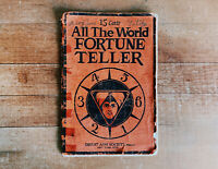 All The World Fortune Teller, by Great Aim Society, 1926 Palm Reading Book Rare