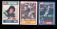 1988-1990 Swell JOE NAMATH New York Jets Hall of Fame 3 Card Lot