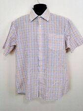 RC Basix L Cotton/Poly S/S Purple White Yellow Check            K69