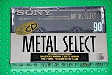 SONY  METAL  SELECT  90  BLANK CASSETTE TAPE (1) (SEALED)