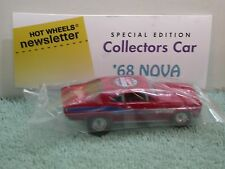 Hot Wheels Baggie 2009 Convention Newsletter 68 Nova in red with real riders