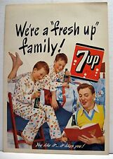 1948 7up The Fresh Up Family Drink Soda Pop Family Sign