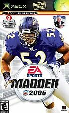 Madden Nfl Football 2005 for Xbox Games Video Game