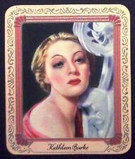 Kathleen Burke 1936 Garbaty Passion Film Star Embossed Cigarette Card #223
