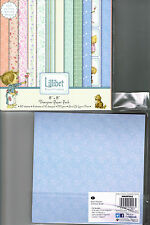 """PAPERS LILLIBET DOVECRAFT 8"""" x 8""""  PATTERNED 150GSM 36 SHEETS ***NEW OUT***"""