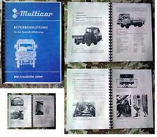 Betriebsanleitung Multicar 25 M25 IFA  viele Varianten!