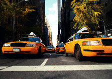 Yellow Cabs of New York City - 3D  Lenticular Postcard Greeting Card