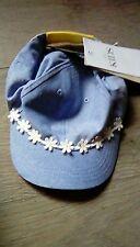 M&S Kids girls simmer skip hat with white flowers UPF 40+ age 3-6 year bnwt