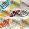 4mm/6mm/8mm/10mm Rondelle Faceted Making DIY Crystal Glass Loose Spacer Beads