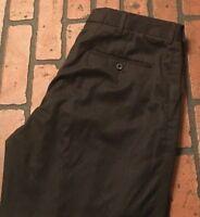 Polo Ralph Lauren Men's Black Dress Pants Flat Front Size 34 x 30