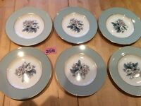 "Set Of Six VINTAGE ROYAL WORCESTER 1958-1970 WOODLAND 7.8"" SALAD/DESSERT PLATES"