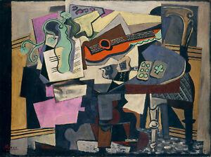 "Still Life (1918) Signed Pablo Picasso Cubist - 17"" x 22"" Fine Art Print - 00797"