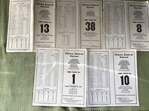 FIVE VINTAGE AMERICAN RAILWAY TIMETABLES - ILLINOIS CENTRAL RAILROAD - 1941 - 67