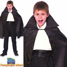 KIDS HALLOWEEN SCARY VAMPIRE CAPE Age 5-7 boys childs fancy dress accessory