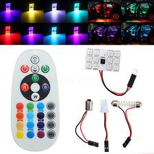 12 LED Remote Control 5050 SMD RGB Light Car Reading Lamp Bulb T10 Festoon BA9S