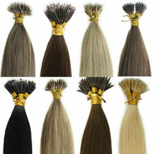 7A Brazilian Remy Human Hair Extensions Nano Ring Beads Tip Loop Hair 16-20Inch