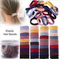 10/20Pc Girls Elastic Hair Ties Seamless Hair Bands Simple Basic Ponytail Holder