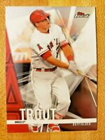 2017 Topps Finest Mike Trout #1 Los Angeles Angels