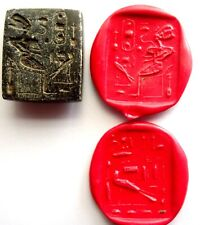GRAND SCEAU CACHET EGYPTIEN EN PIERRE - EGYPT ANCIENT STONE INTAGLIO SEAL MATRIX