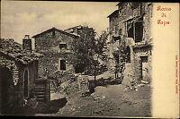 Rocca di Papa Italien s/w Postkarte um 1900 Dorfpartie Teilansicht ungelaufen