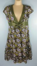 Women's free people floral tunic Summer dress size 10 Really Nice Unique!!